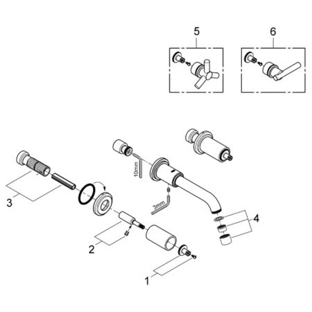 Grohe 20138 Atrio Replacement Parts